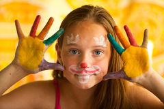 Hand Painted Child Stock Image