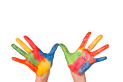 Hand Painted Child Stock Photography
