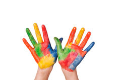 Hand Painted Child Stock Photos