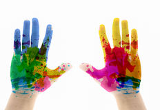 Hand Painted Child. Royalty Free Stock Images