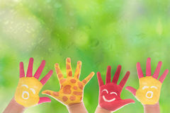 Hand Painted Child. Stock Images