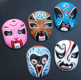 Hand Painted Chinese Opera Clay Mask Royalty Free Stock Photography