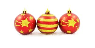 Hand painted Christmas baubles Stock Photography
