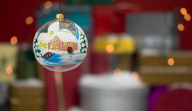 Hand painted christmas globe Stock Photos