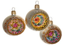 Hand-painted Christmas ornaments Royalty Free Stock Photo