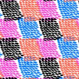 Hand painted color blocked vector pattern Royalty Free Stock Photography