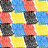 Hand painted color blocked vector pattern Stock Image