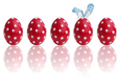 Hand-painted colorful easter eggs Stock Photography