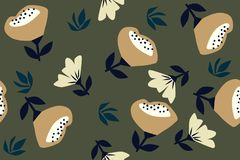Pattern of autumn flowers. Hand painted colorful floral composition. vector illustration