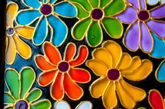Hand painted colorful flowers. royalty free stock photography