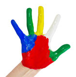 Hand painted in colorful paints Royalty Free Stock Image