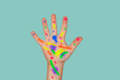 Hand Painted colors Royalty Free Stock Image