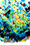 Hand painted colourful brushstrokes inspired by pointillism styl Stock Images