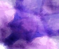 Hand painted dark blue purple watercolor backgrounds. Hand painted dark purple watercolor backgrounds vector illustration