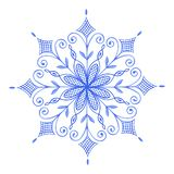 Hand painted Decorative Watercolor Snowflake. Illustration. Christmas, Christmas Ornament, Decoration, Watercolor Painting, Ice Crystal vector illustration