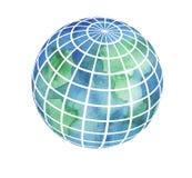 Hand painted Earth globe Stock Photo