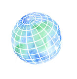Hand painted Earth globe Royalty Free Stock Photo