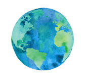 Hand painted Earth globe. Stock Photos
