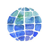 Hand painted Earth globe. Royalty Free Stock Images