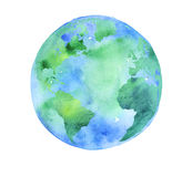 Hand painted Earth globe. stock illustration