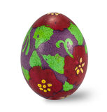 Hand painted easter egg isolated in white background with clippi Stock Photography
