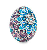 Hand painted easter egg isolated in white Stock Photography