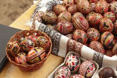 Hand painted Easter eggs Stock Image