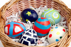 Hand Painted Easter Eggs Stock Photography