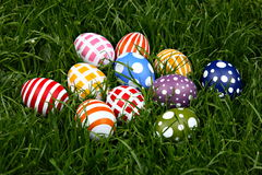 Hand-painted Easter eggs Stock Photography