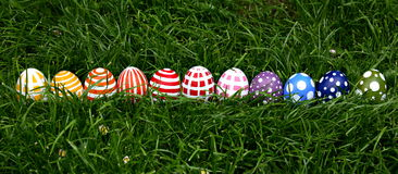 Hand-painted Easter eggs Stock Images