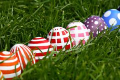 Hand-painted Easter eggs Royalty Free Stock Image