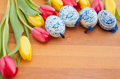Hand-painted easter eggs Royalty Free Stock Photography