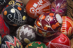 Hand-painted on Easter eggs Royalty Free Stock Photos