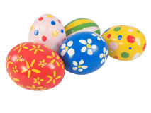 Hand painted Easter eggs Stock Photos