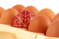 Hand-painted easter eggs Royalty Free Stock Photo