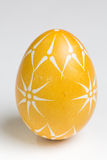 Hand painted easter eggs on white Royalty Free Stock Photography
