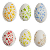Hand painted eastereggs w/ clipping path Royalty Free Stock Photography