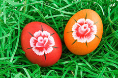 Hand painted egg Royalty Free Stock Photography