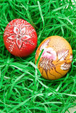 Hand painted egg Stock Images