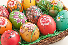 Hand painted egg Stock Photography