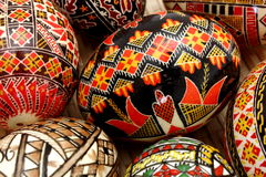 Hand painted eggs Royalty Free Stock Photos