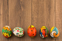 Hand painted eggs Stock Photos
