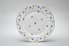 Hand-painted empty dinner plate Stock Images