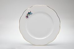 Hand-painted empty dinner plate Royalty Free Stock Image