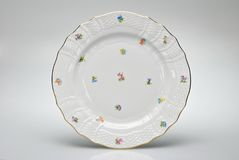 Hand-painted empty dinner plate Royalty Free Stock Photo
