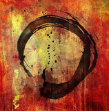 Hand painted enso symbol Royalty Free Stock Photo
