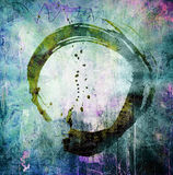 Hand painted enso symbol Stock Photo