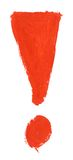 Hand painted exclamation mark Stock Images