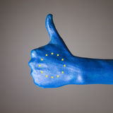 Hand painted with the flag of European Community Stock Photo