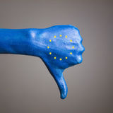 Hand painted flag European Community negativity Royalty Free Stock Image